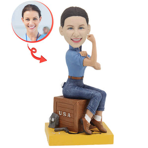 Custom Rosie the Riveter Bobblehead