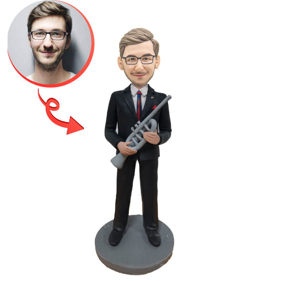 Custom Saxophone Player Bobblehead