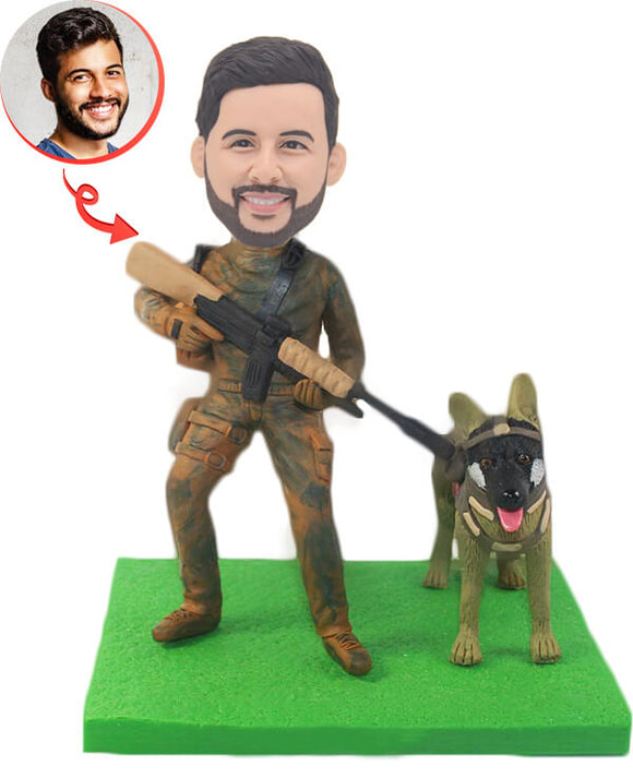 Custom Special Forces and Police Dogs Bobblehead