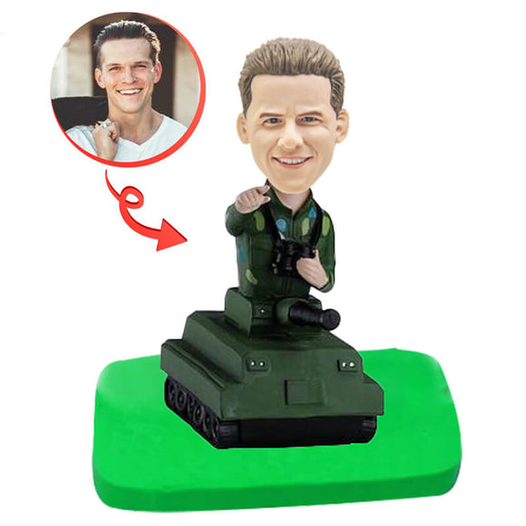 Custom Tank Commander Bobblehead