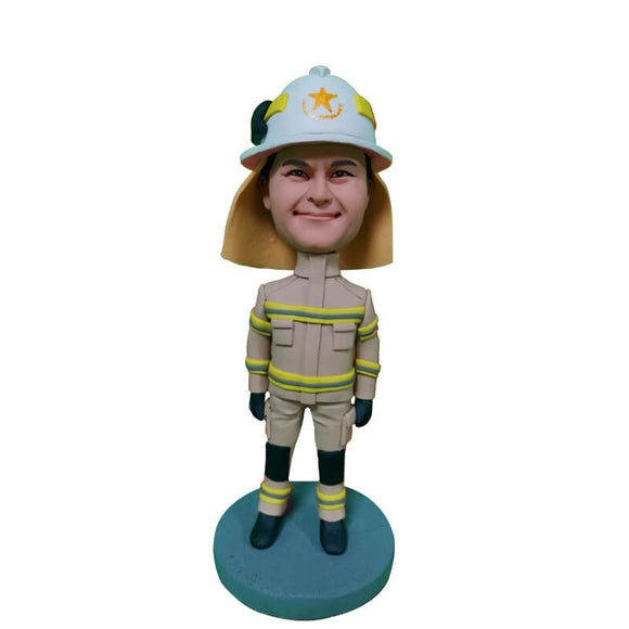 Custom The greatest firefighter Bobblehead