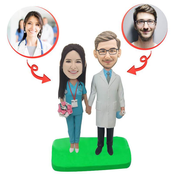 Custom Weddings for Doctors Couples Bobblehead
