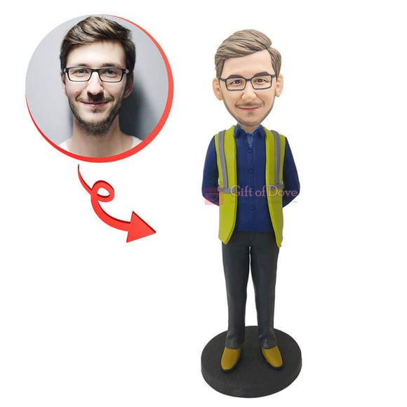 Custom Construction Worker  Bobblehead