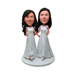 Custom Lesbian Wedding SameSex Bobblehead/Gay Couple