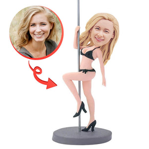 Custom Sexy Girl Pole Dancing  Bobblehead