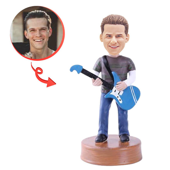 Electric Guitar Player Custom Bobblehead