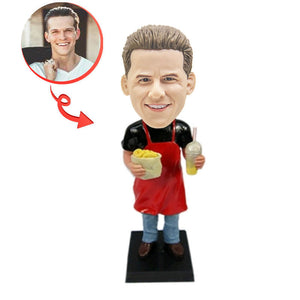 Fast Food Waiter Custom Bobblehead