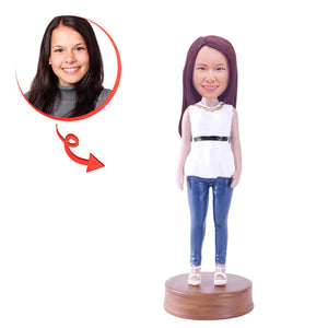 Custom Female Going Out On The Town Bobblehead