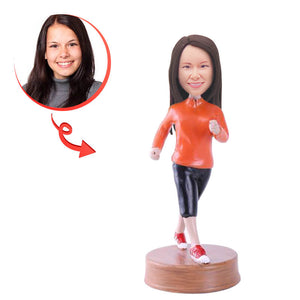 Custom Female Jogger Bobblehead