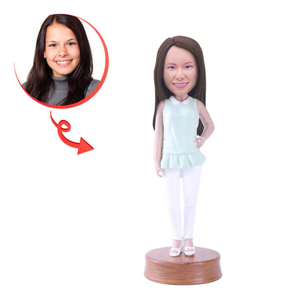 Custom Female Pose Bobblehead
