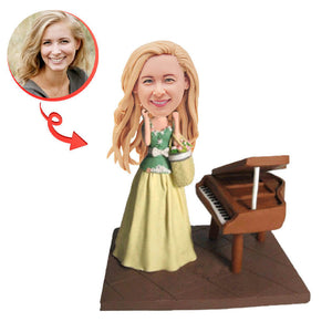 Girl With Piano Custom Bobblehead