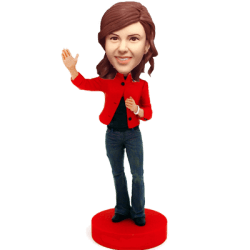Custom Greeting Woman Bobblehead