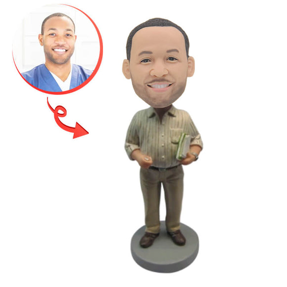 Guy Carrying Documents Custom Bobblehead