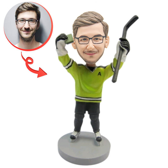 Hockey Player Custom Bobblehead