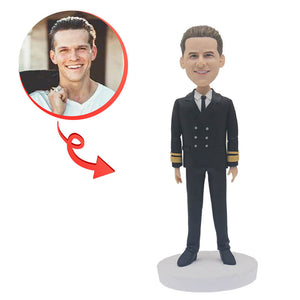 Custom Male Navy Bobblehead