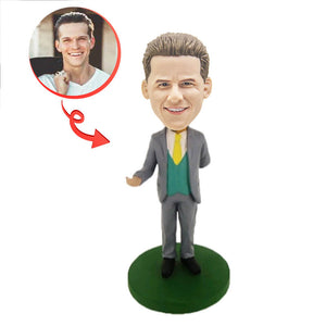 Man In A Suit Custom Bobblehead