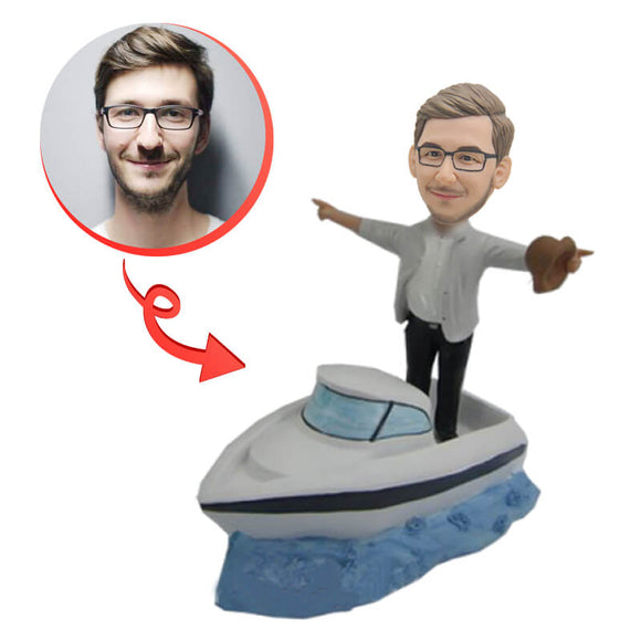 Custom Man In Boat Bobblehead