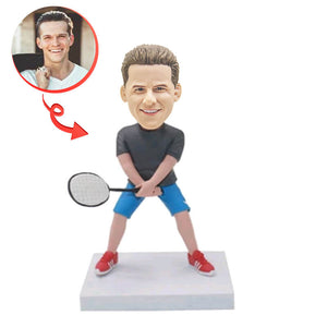 Playing Tennis Custom Bobblehead