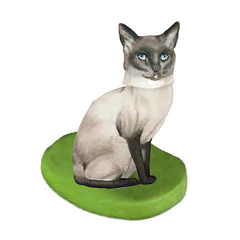 Custom Siamese Cat large bobbleheads