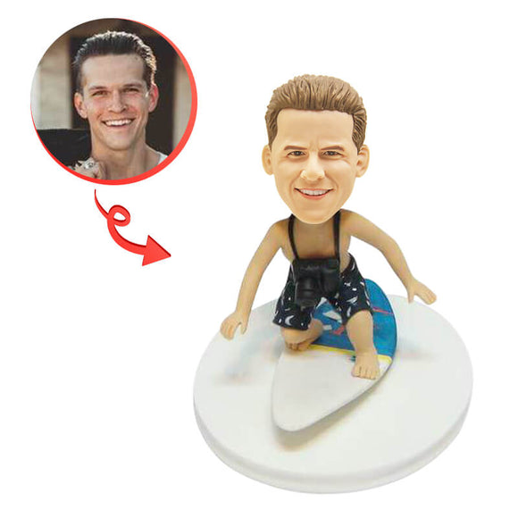 Custom Surfing The Wave Bobblehead