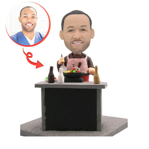 The Man Is Cooking Custom Bobblehead