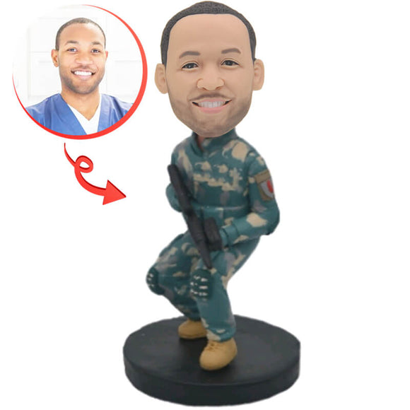 U.S. Army Man Custom Bobblehead