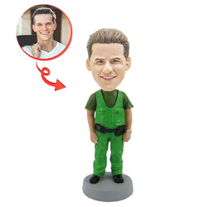 Workman In Uniform Custom Bobblehead