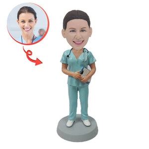 Worlds Best Nurse Custom Bobblehead