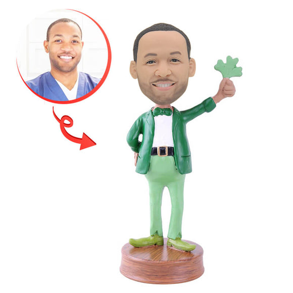 Custom Lucky Leprechaun Bobblehead