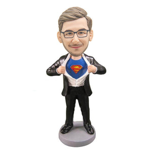 Custom Super Dad Father's Day Gift Bobblehead