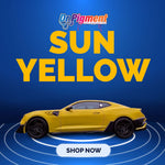 Sun Yellow- Pearl mica pigments. - Great for Raail, Plasti Dip, Auto Paint, Resin and Slime. Vinyl Wrap. Liquid Wrap. Dipyourcar