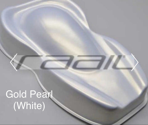 Gold Pearl White Base- Pearl mica pigments. - Great for Raail, Plasti Dip, Auto Paint, Resin and Slime. Vinyl Wrap. Liquid Wrap. Dipyourcar