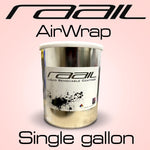AirWrap DIY Kit - White Base/Clear physical Raail Single Gallon (Clear)