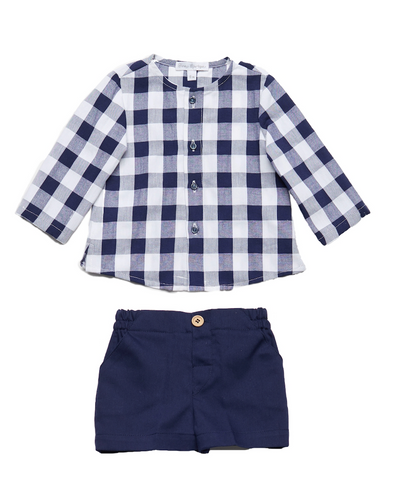 Checked Navy Shirt & Short