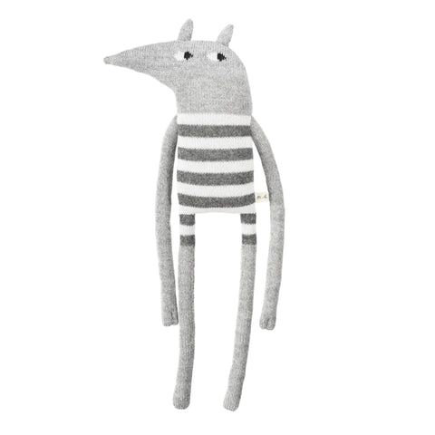 Large Wolf Knit Toy