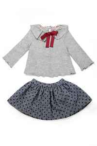 Grey Polka Dot Set