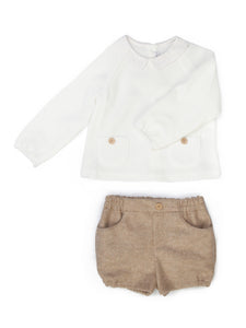 Beige Short Set