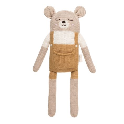 Large Teddy Knit Toy - Mustard