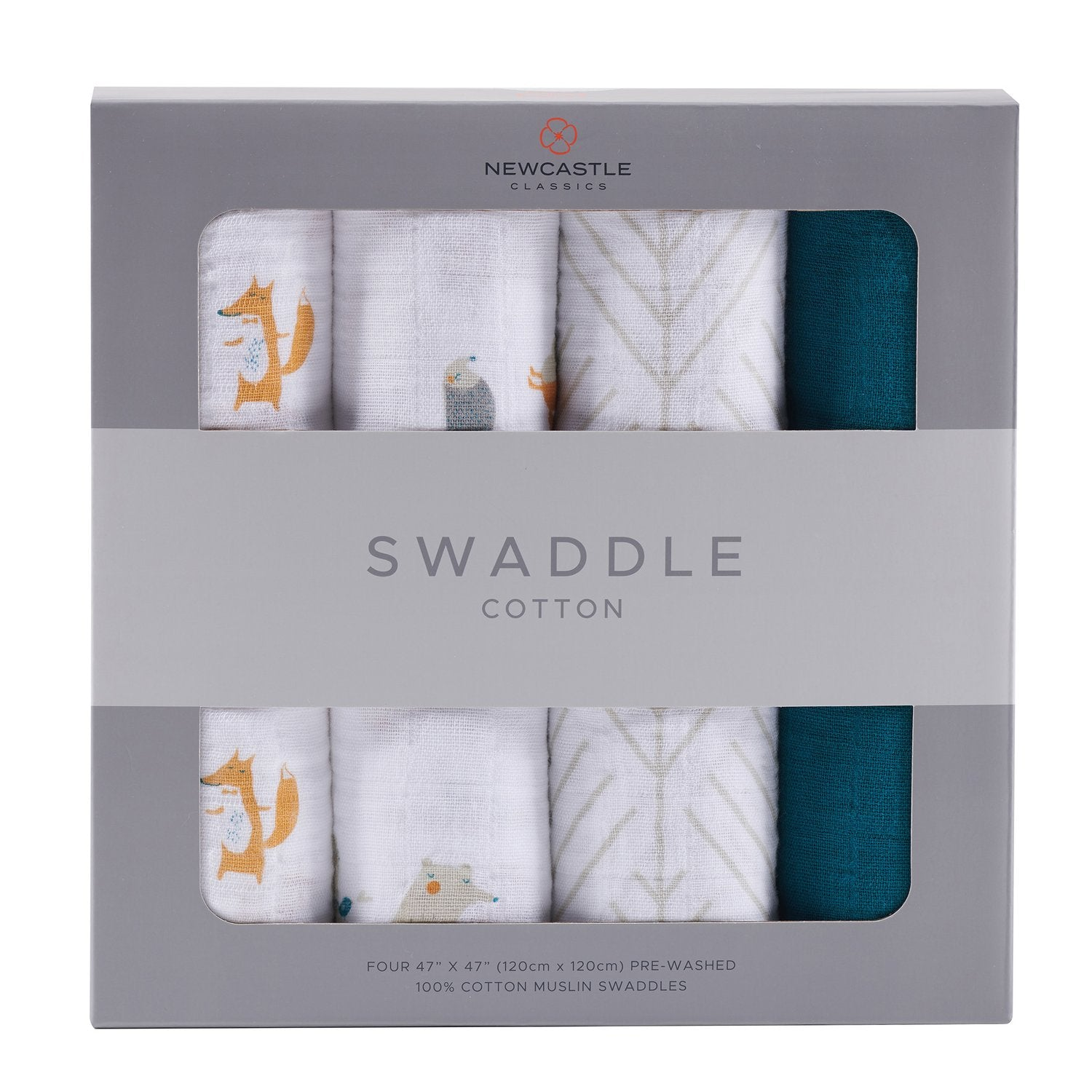 Forest Friends Swaddle - 4 Pack