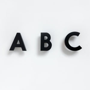 ABC Wall Hooks - Black
