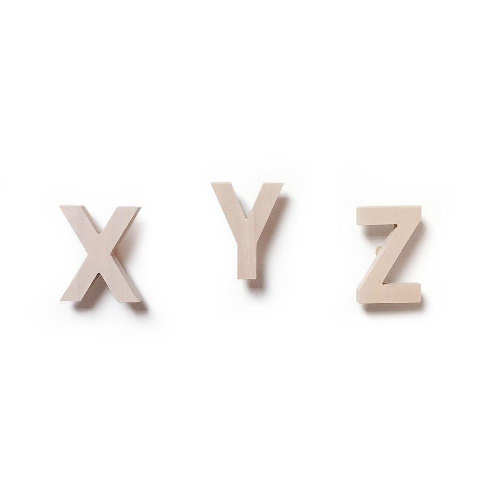 XYZ Wall Hooks - Natural