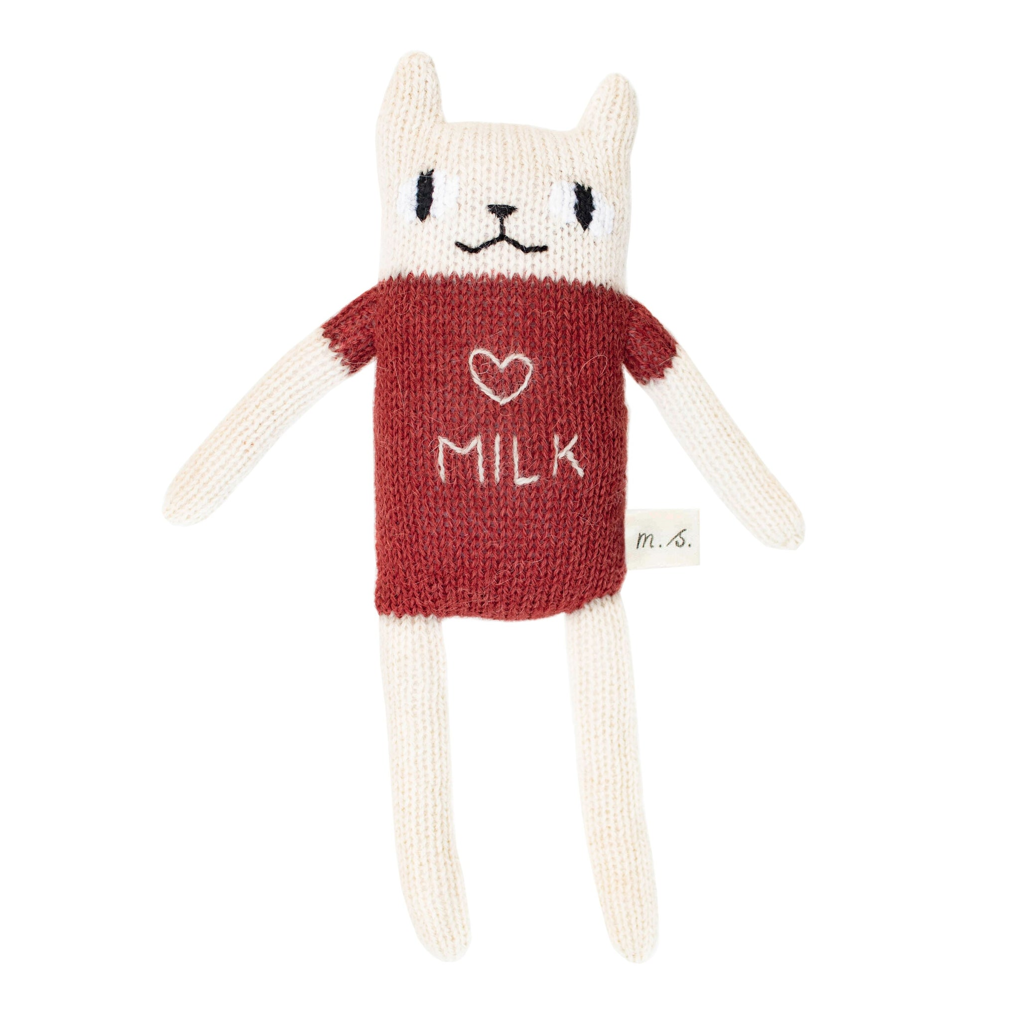 Small Milk Cat Knit Toy