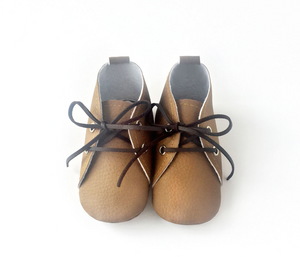 Vegan Leather Booties - Brown