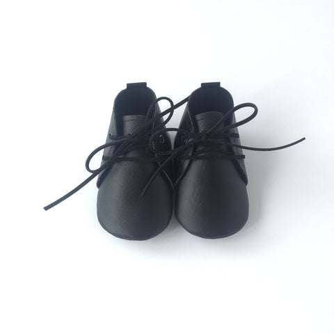 Vegan Leather Booties - Black