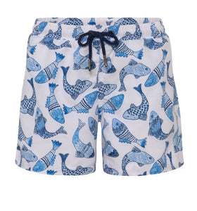 Boys Batik Fish Swim Shorts