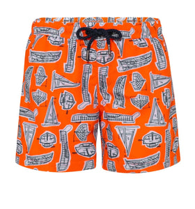 Boys Neon Leonardo Boats Swim Shorts
