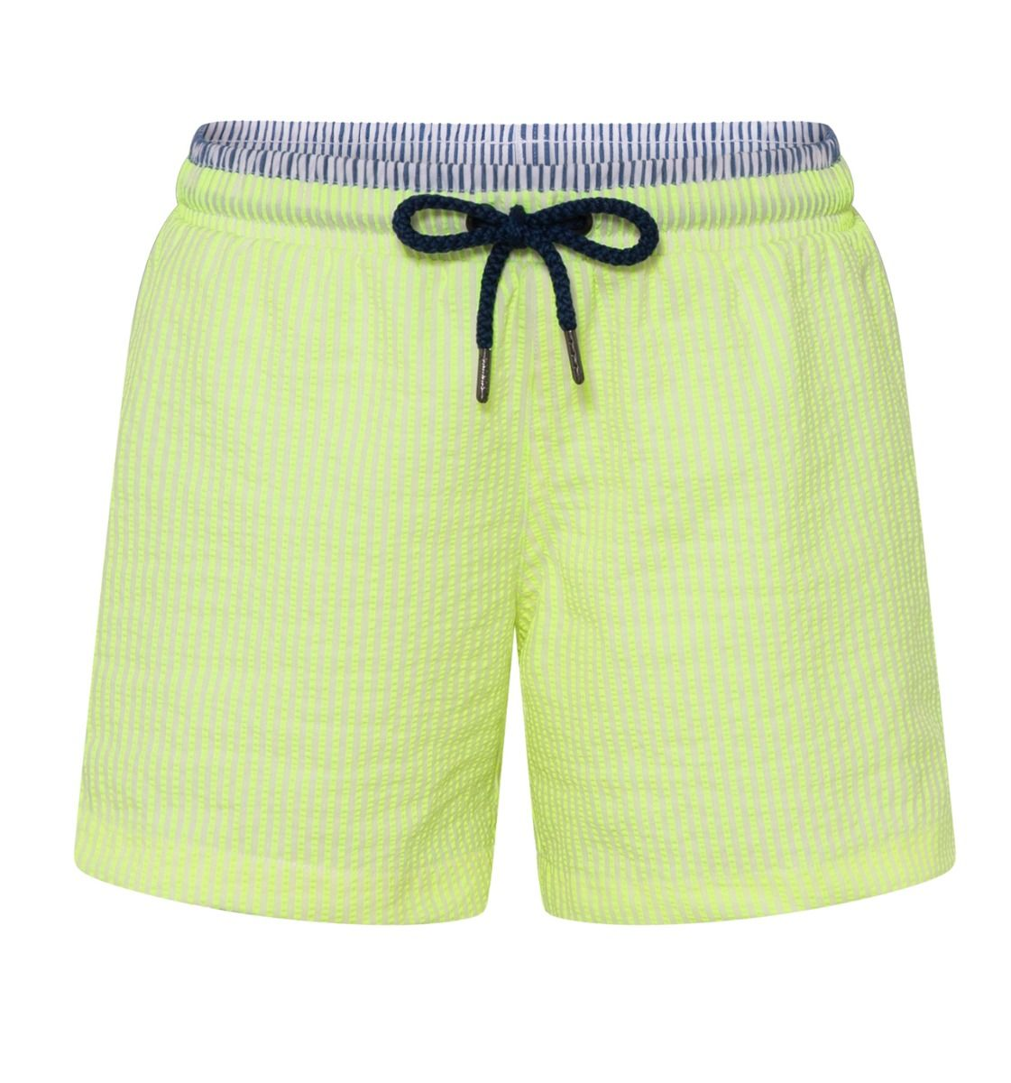 Boys Neon Seersucker Swim Shorts