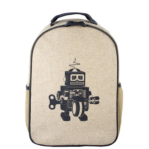 Toddler Backpack - Grey Robot