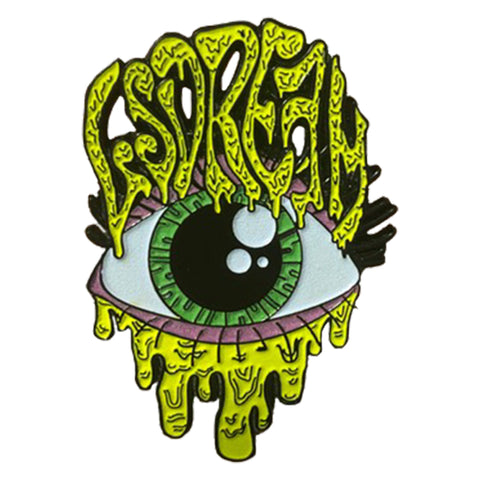 Glow In The Dark Drippy Eye Pin
