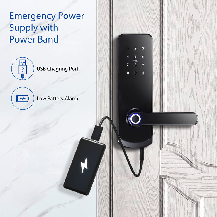 YRHAND NX1 Plus Keyless Entry Smart Door Lock with Doorbell,Fingerprint